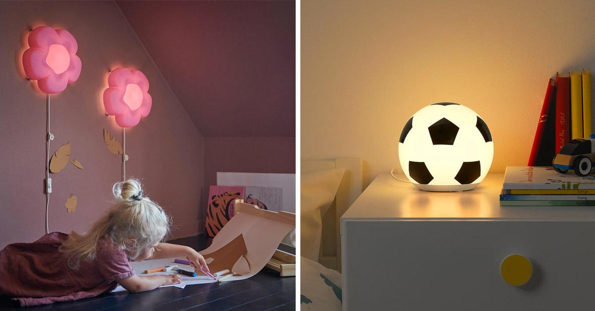 Lampade IKEA per camerette bambini.
