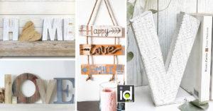 Realizzare una scritta decorativa con legno di recupero