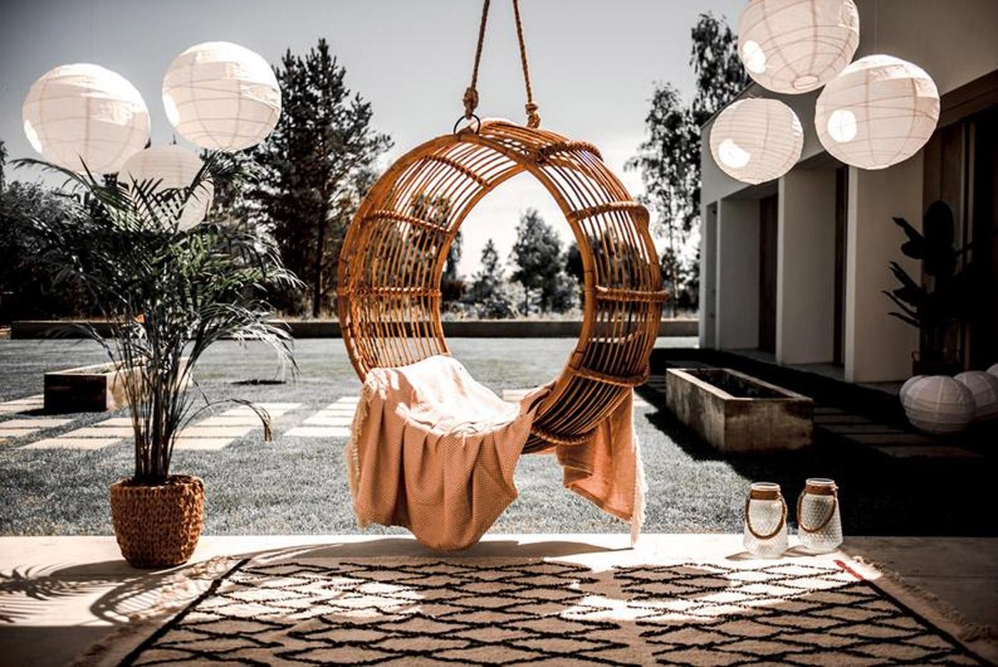 altalena design per il giardino