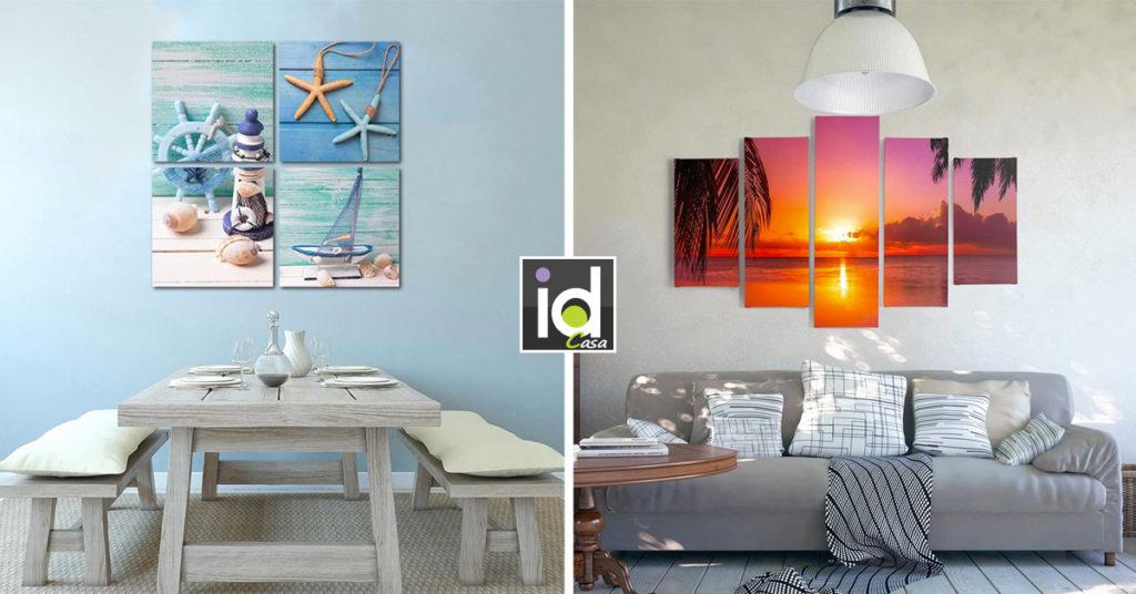 Come decorare casa al mare con i quadri.