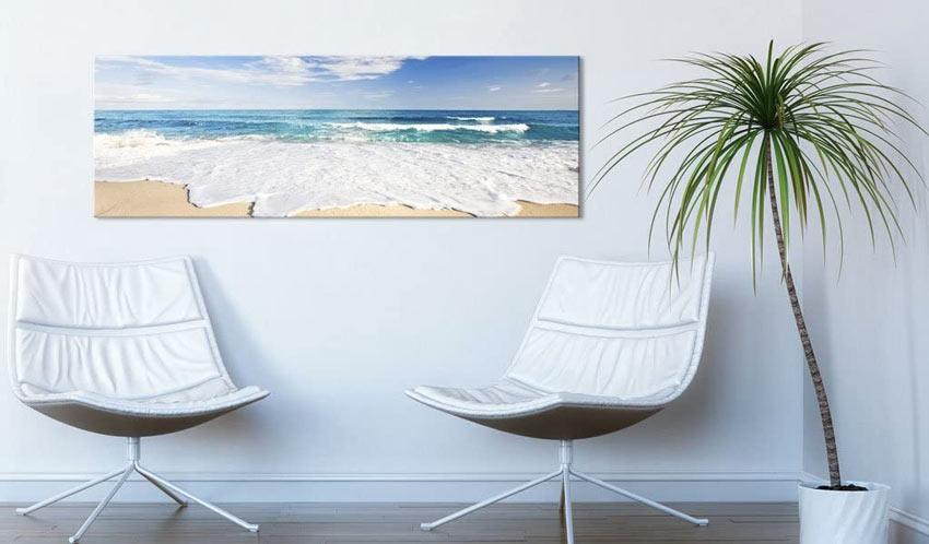 Quadro con foto bordo mare, spiaggia.