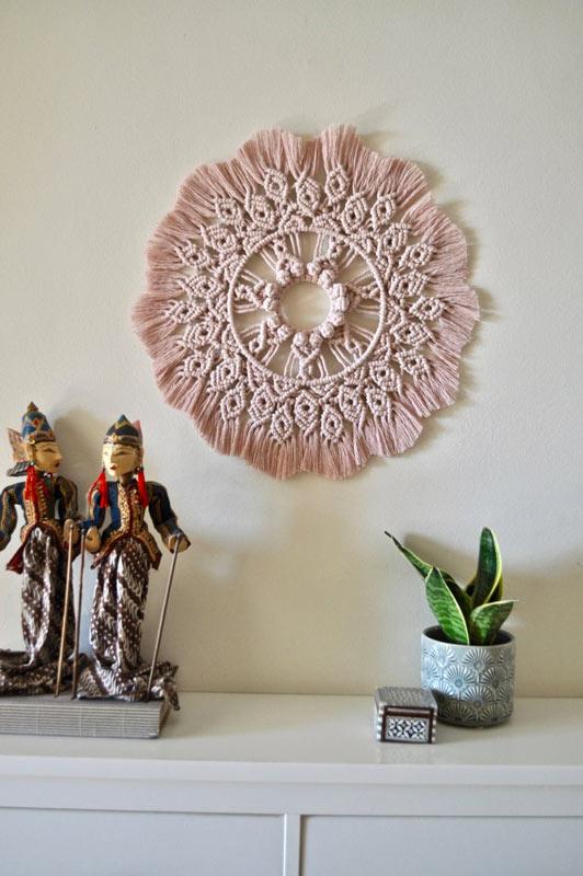 Decorazioni da parete con i mandala.