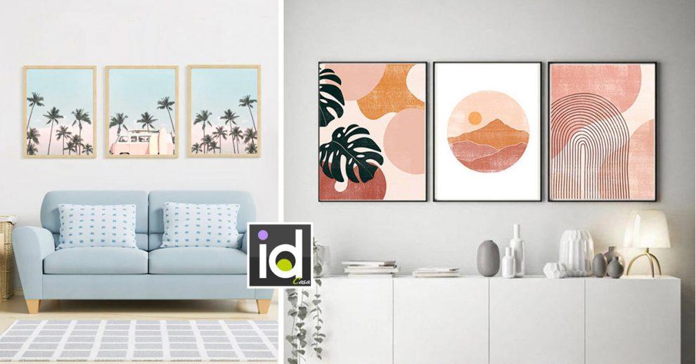 bella composizione di quadri per decorare l'estate