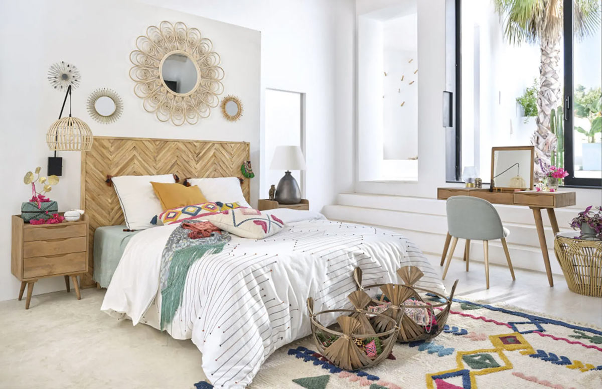 Camera da letto Maisons du Monde.