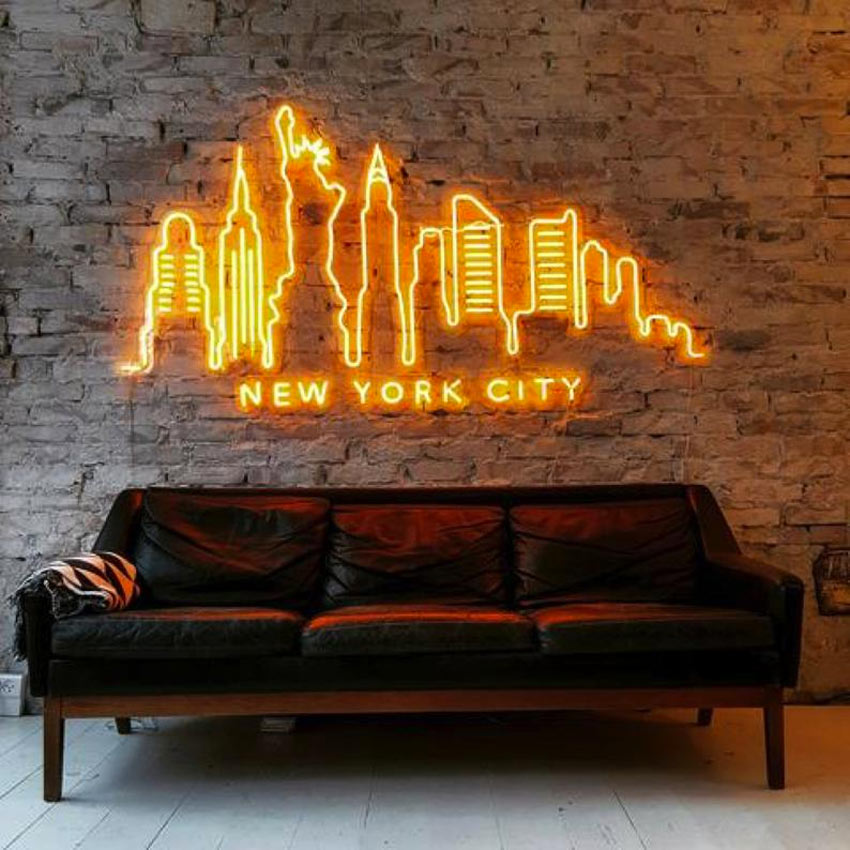 disegno new York luminoso neon
