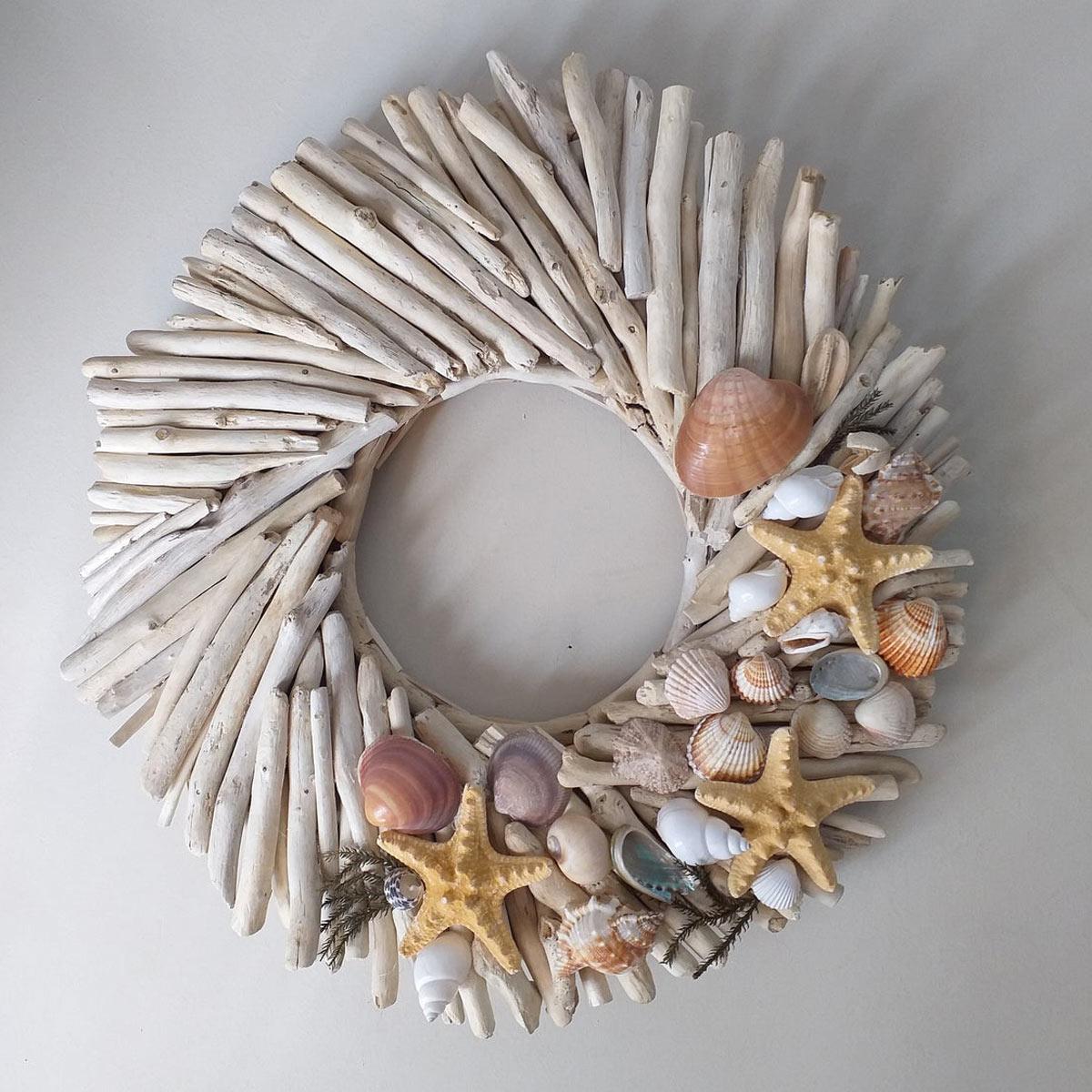decorazioni da parete fai da te con legno di mare