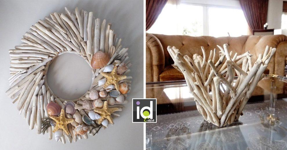 creazioni fai da te con legno di mare