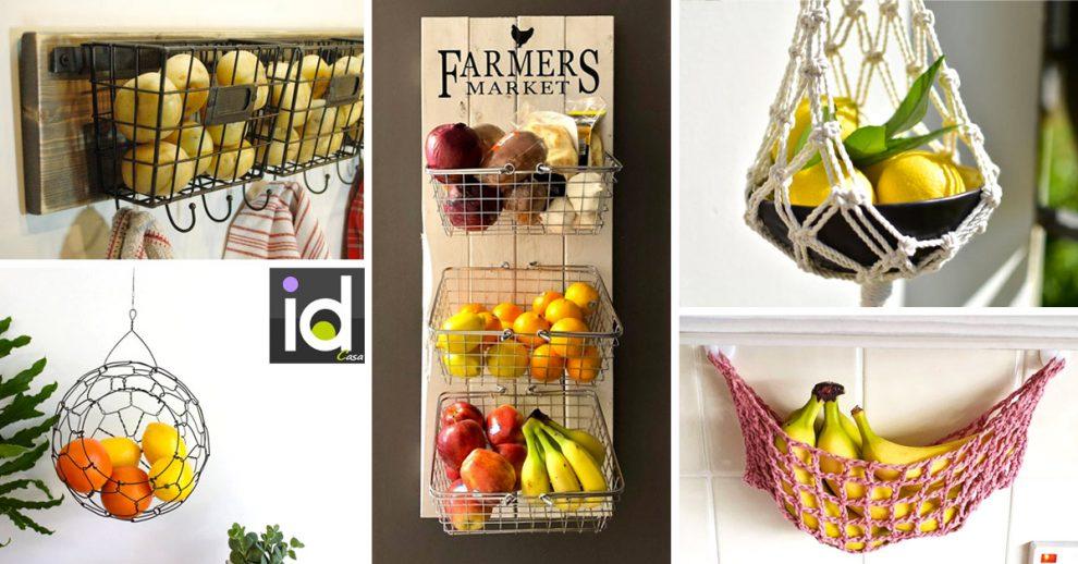 Tenere in ordine frutta e verdura in cucina