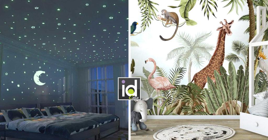 decorare una cameretta con gli adesivi murali