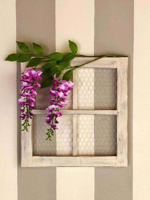 Decorazione fai da te da parete stile rustico in legno.