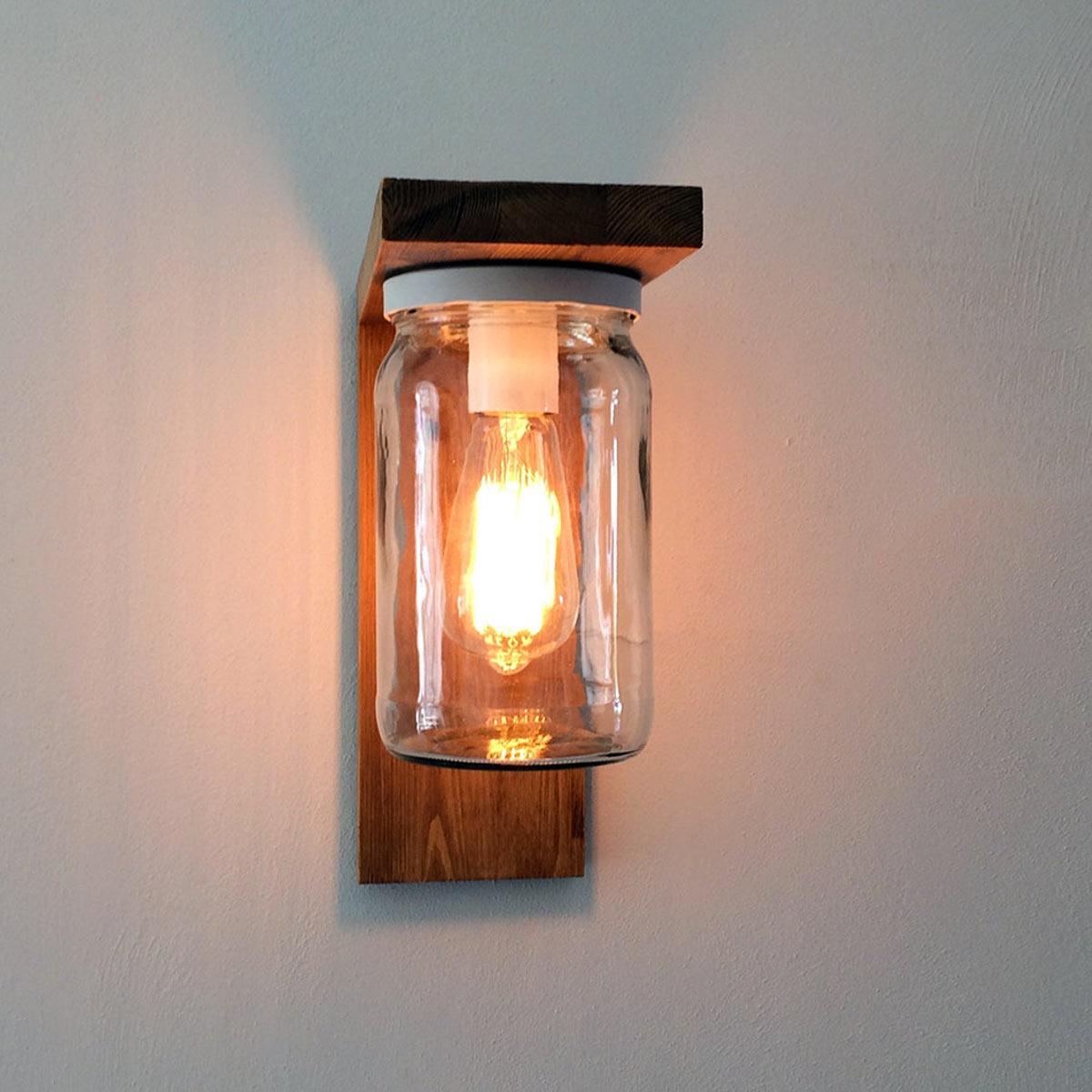 lanterne fai da te con barattoli riciclati e pallet