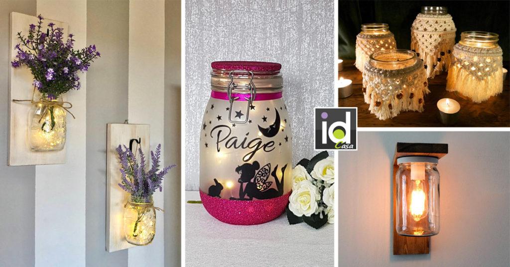 come creare lanterne fai da te con barattoli riciclati