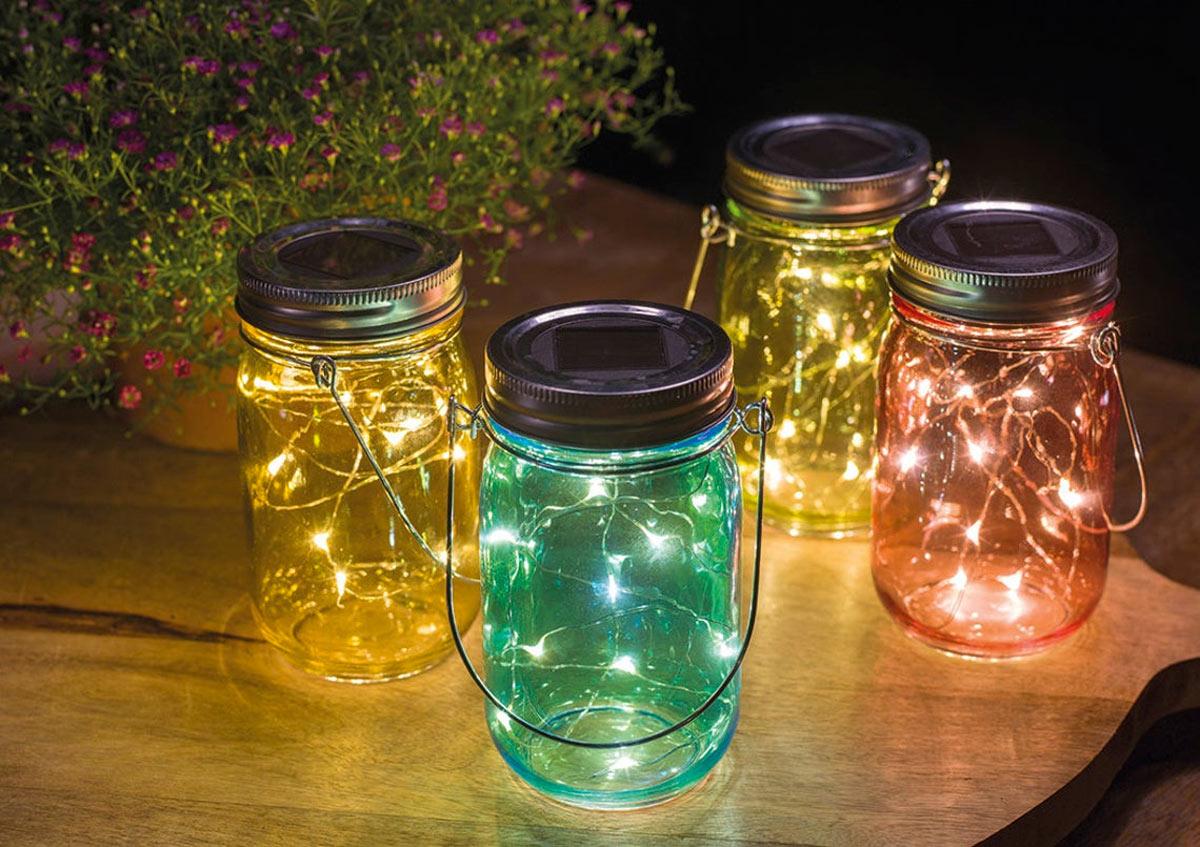 lanterne fai da te con barattoli riciclati