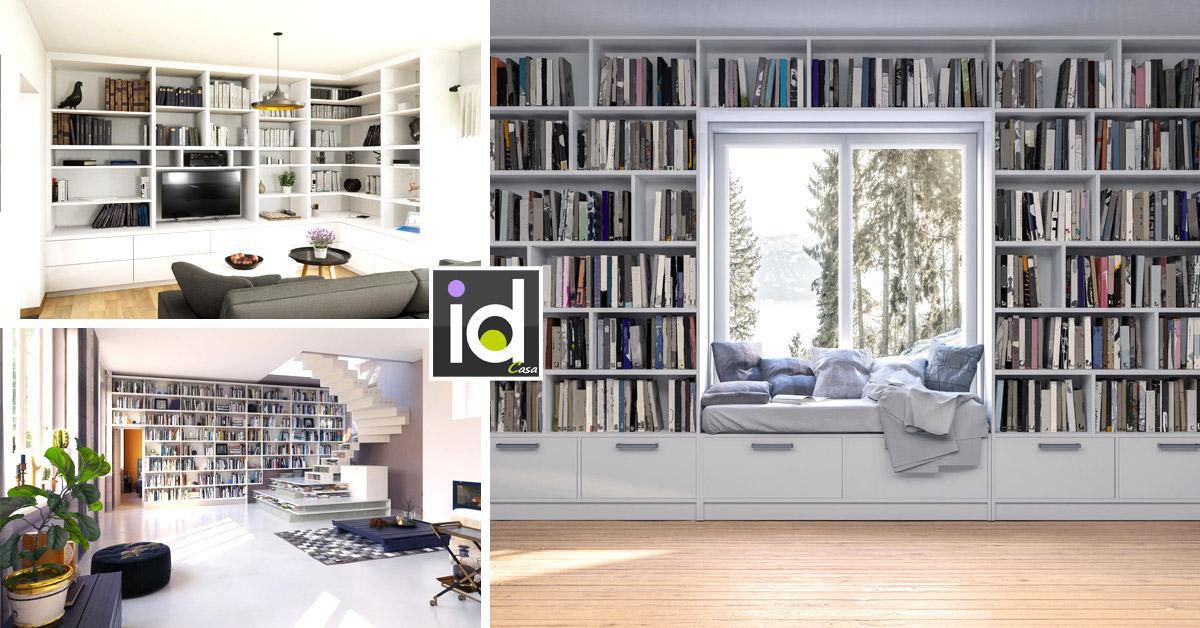 libreria all over per una casa moderna