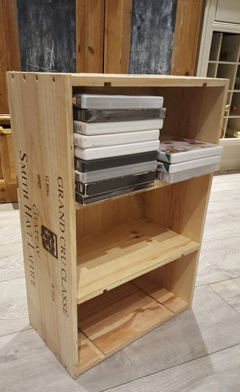 mobili originali fai da te con le cassette di legno