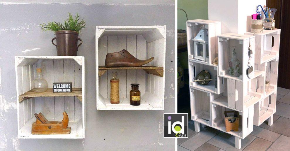 mobili originali con le cassette di legno