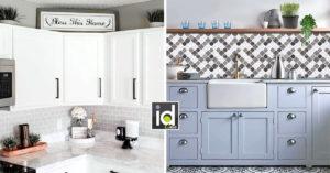 abbellire la cucina con piastrelle adesive