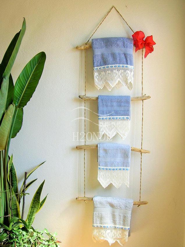 porta asciugamani creativi per il bagno