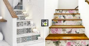 idee per decorare le scale con gli adesivi