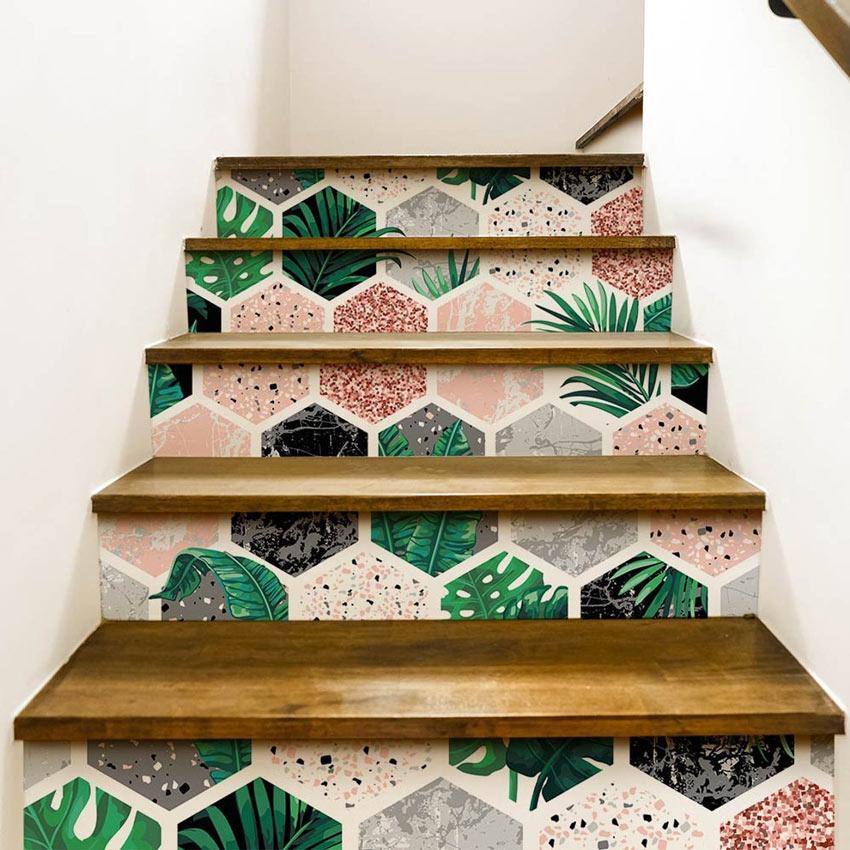 decorare le scale con gli adesivi