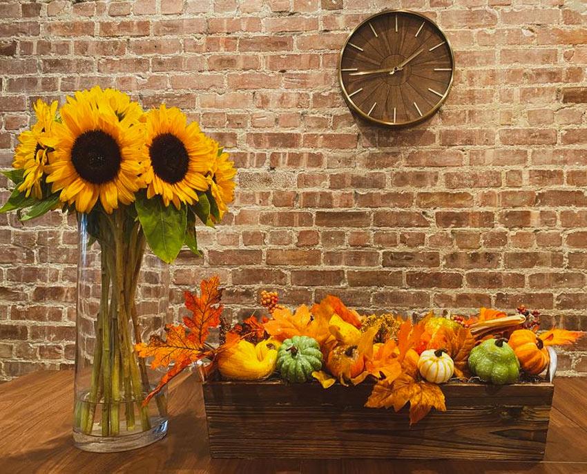 Centrotavola originale per decorare in autunno.