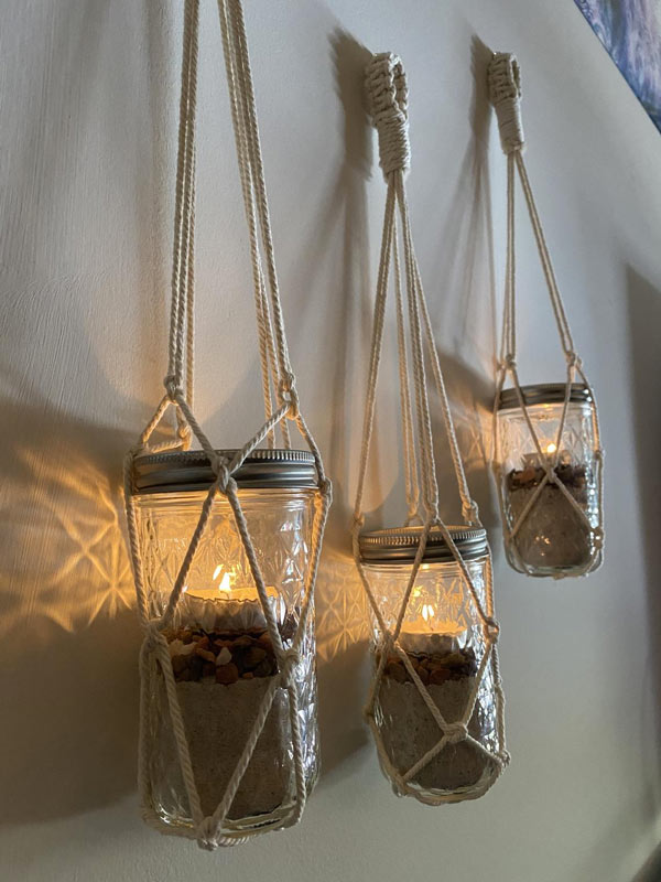 Lanterne originale per balcone.
