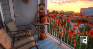 Come decorare il balcone in autunno