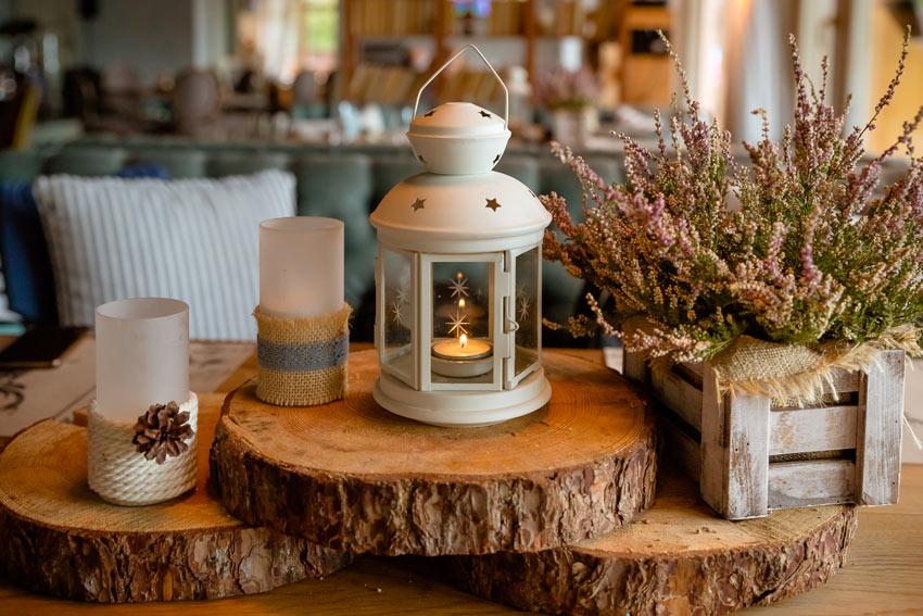 meravigliosa lanterna per decorare la cucina in autunno