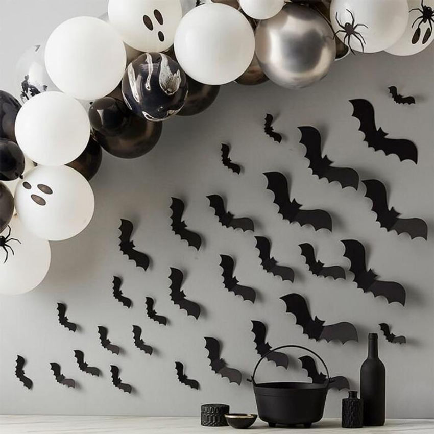 Finte pipistrelli per decorare Halloween.