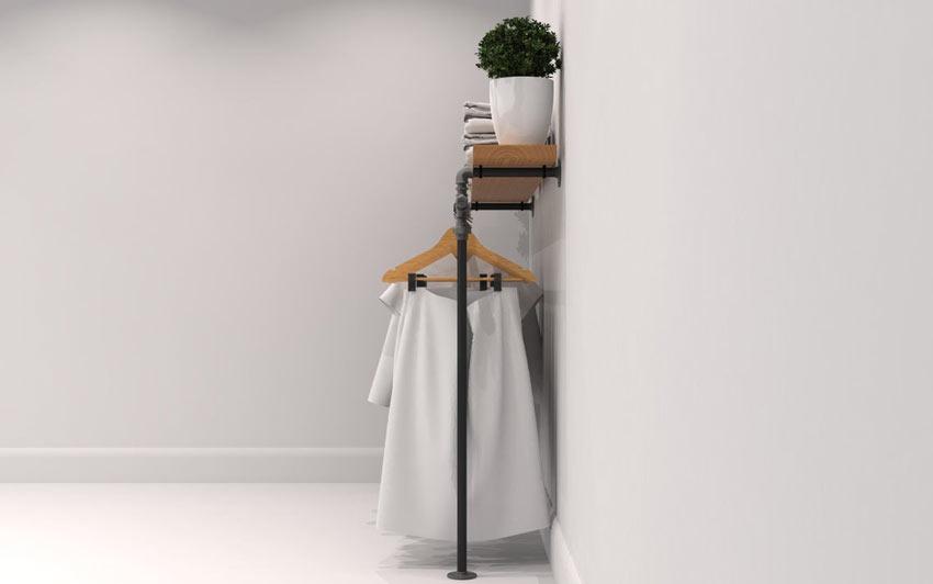 porta abiti fai da te salvaspazio