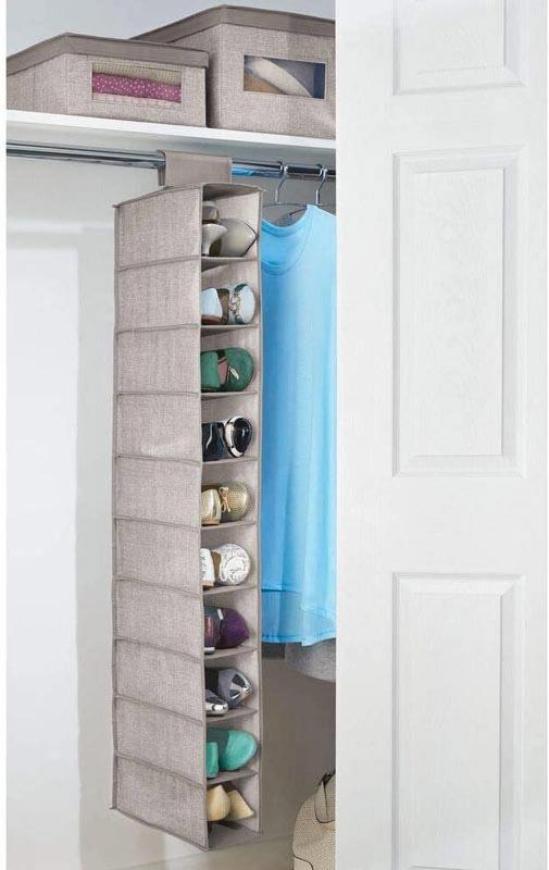 porta scarpe da appendere nell'armadio