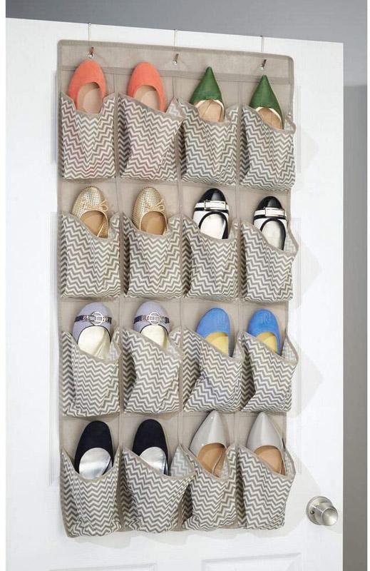 organizer dietro porta per scarpe