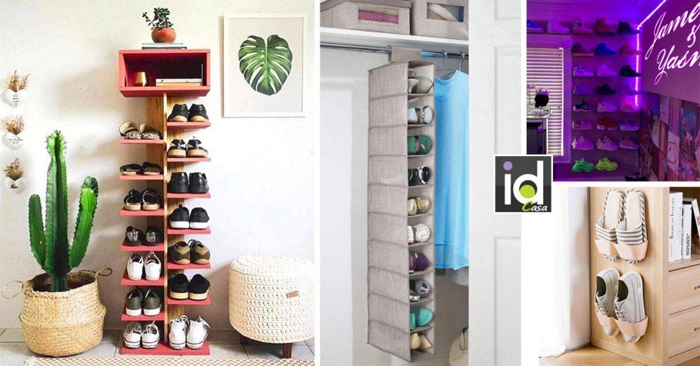 idee per sistemare le scarpe in casa