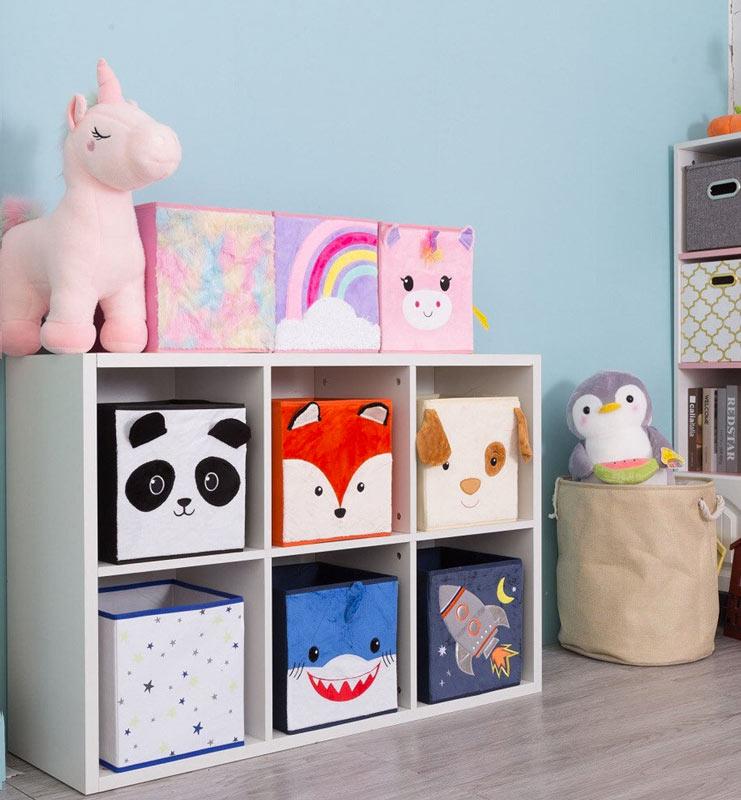 organizzare camera bambini con i contenitori