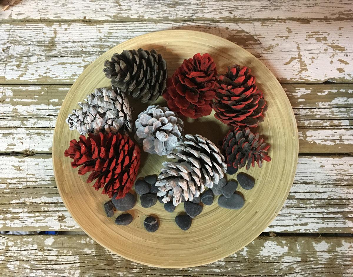 ornamenti per la casa fai da te con le pigne