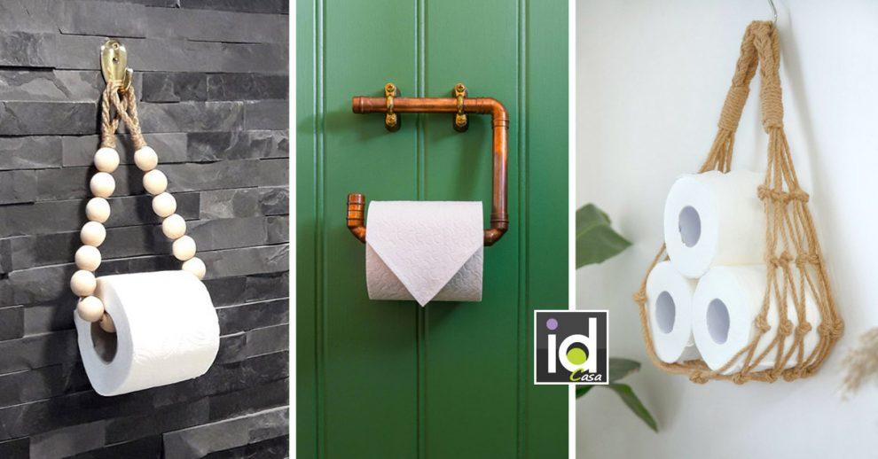 Porta rotoli fai da te per decorare il bagno