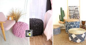 pouf originali e colorati per vivacizzare la casa
