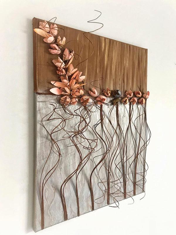 decorazione tridimensionale con rami secchi