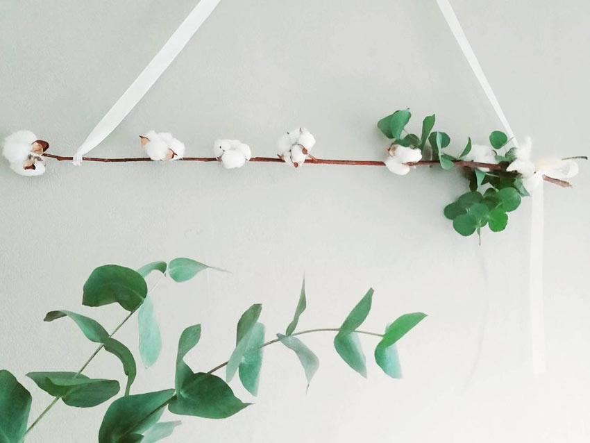 decorare la casa con i rami secchi