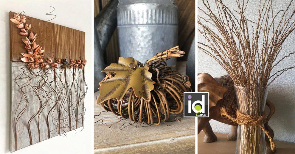 idee per decorare la casa con rami secchi
