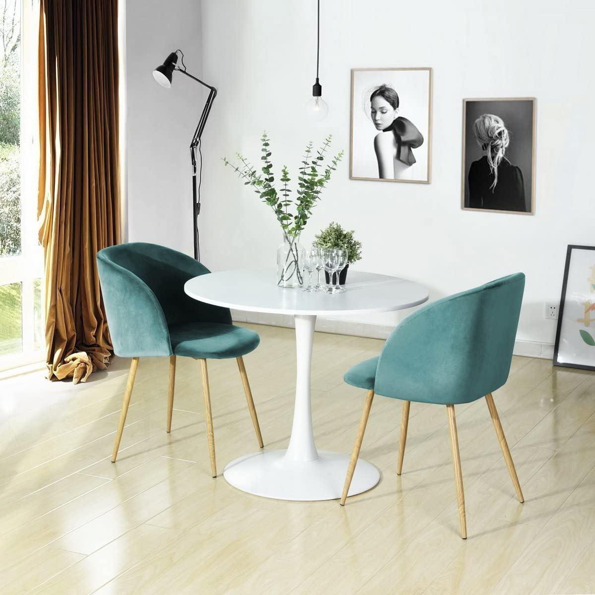 Sedie vintage stile vintage blu verde.