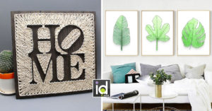 quadri per decorare la casa con la String art