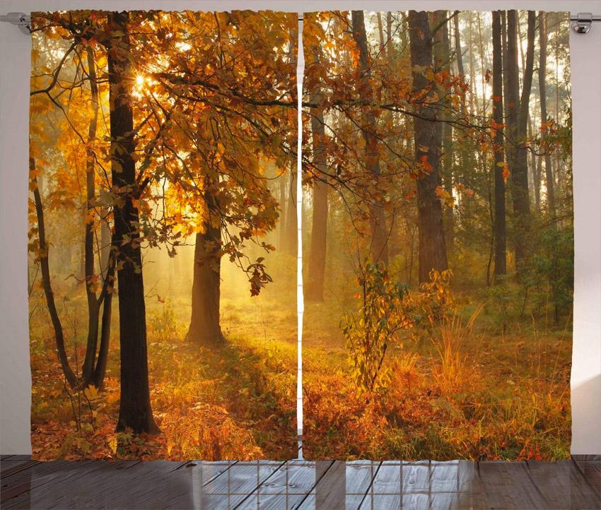 tende che decorano casa in autunno