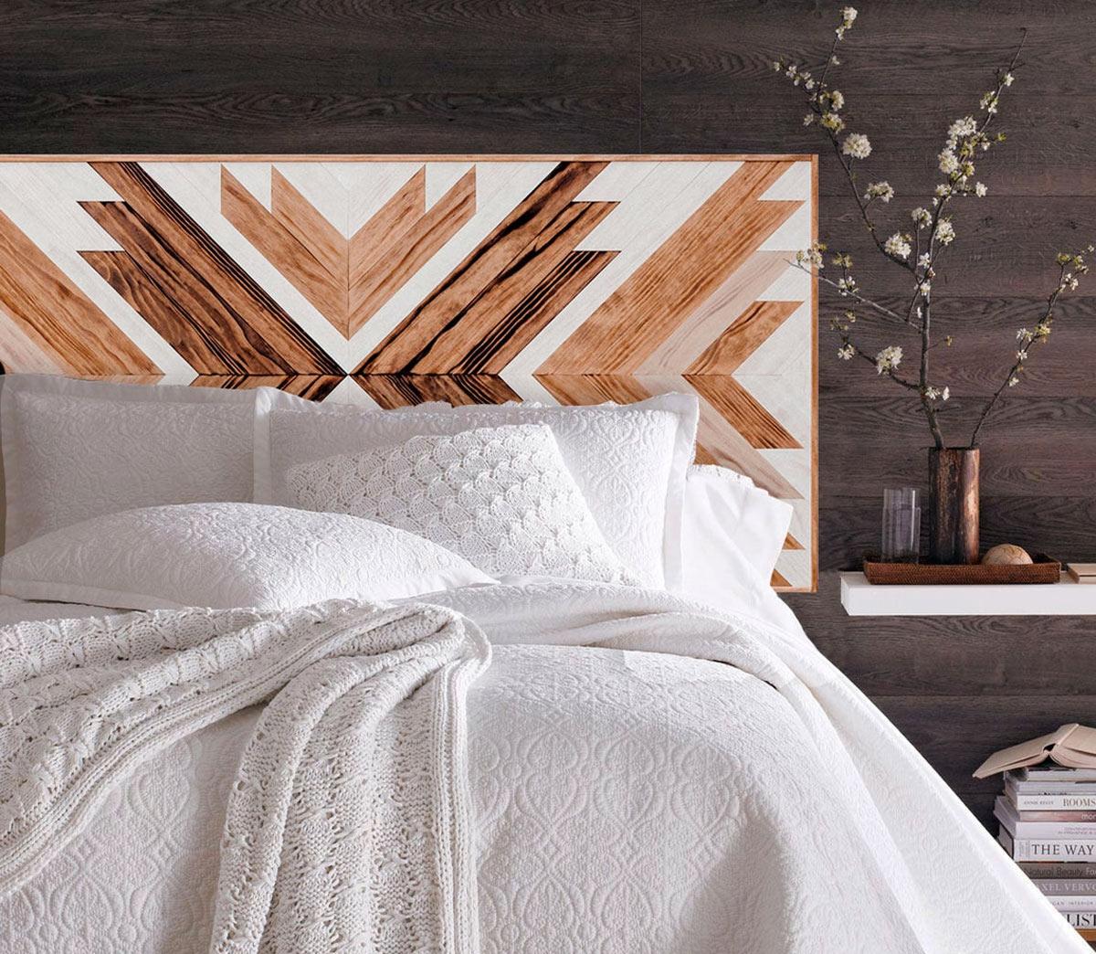 Testate per il letto creative e originali in legno.