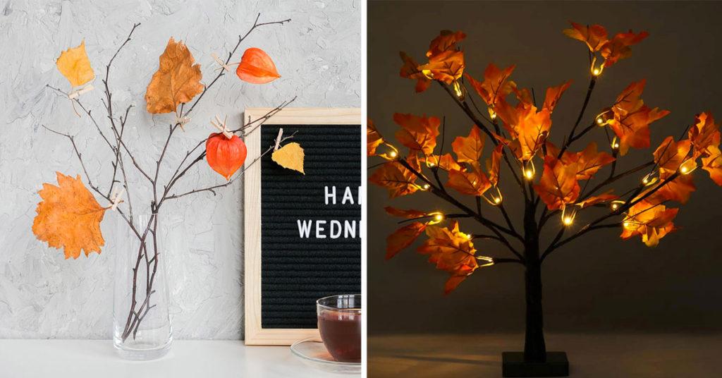 Un alberello d'autunno bello e originale.