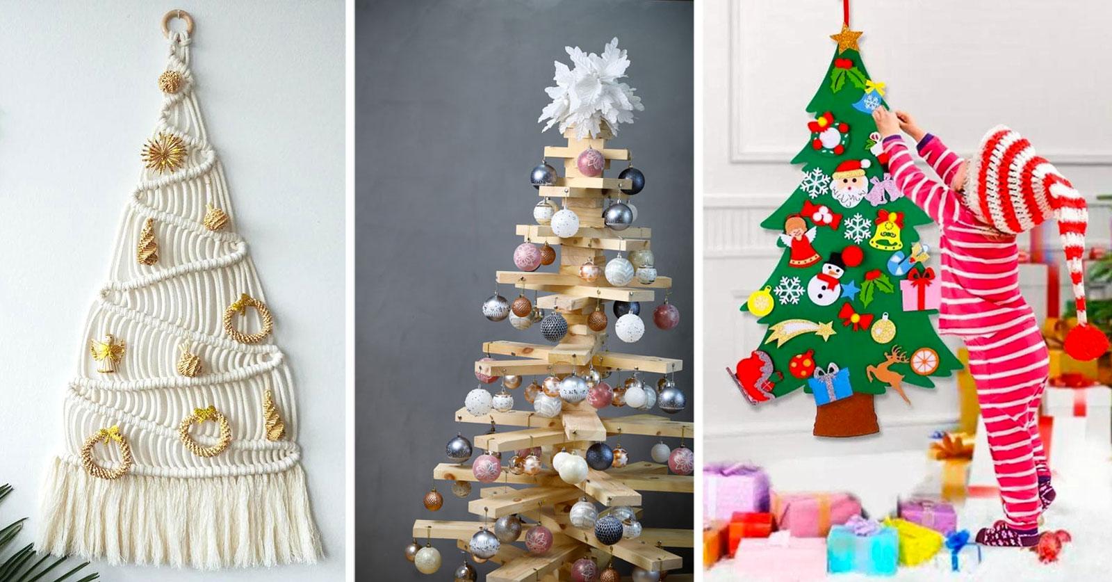 Alberi Di Natale Fai Da Te Originali.Alberi Di Natale Fai Da Te Originali E Creativi 10 Idee Da Copiare