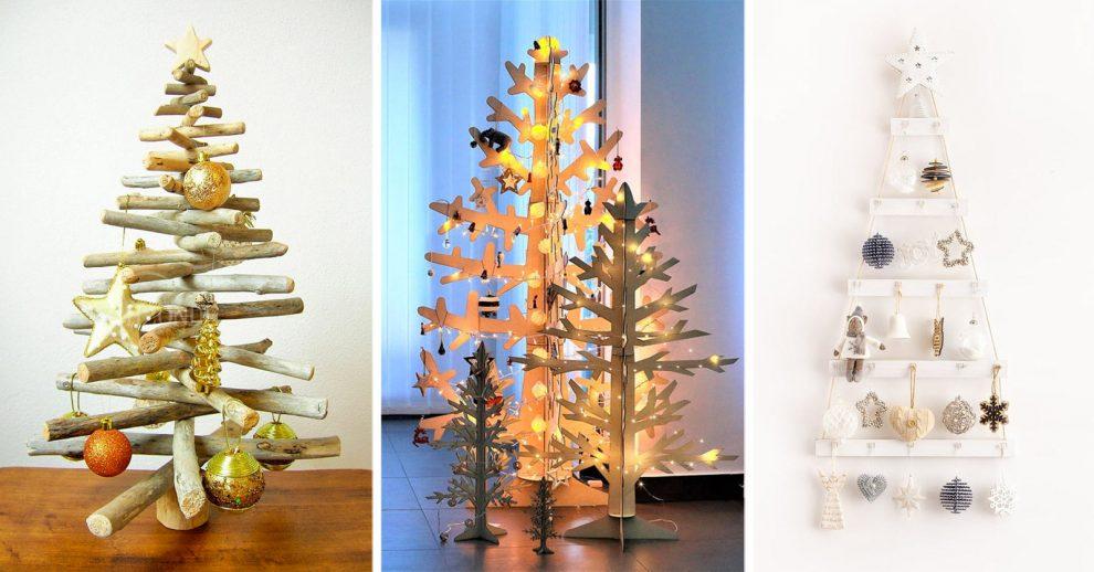 Albero Natale Legno.Un Albero Di Natale In Legno 11 Ispirazioni Da Non Perdere