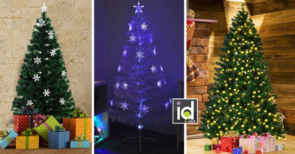 Gli alberi di Natale con luci incorporate
