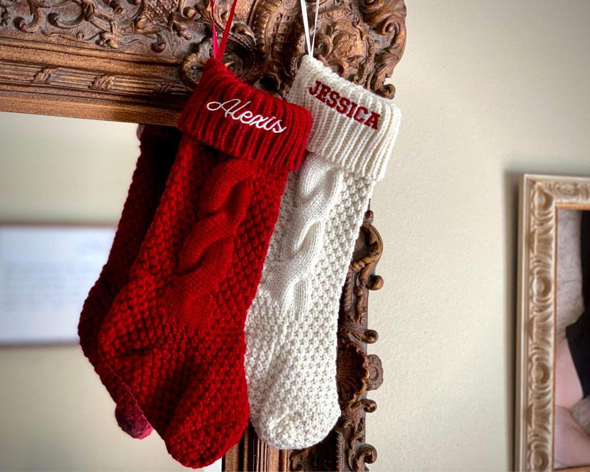 Le calze natalizie fai da te