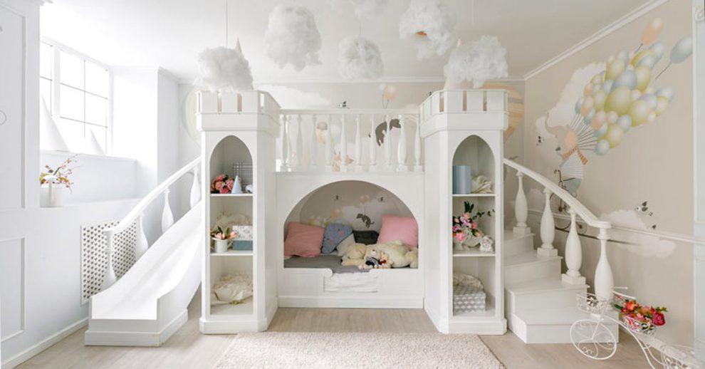 Il letto cottage per i bambini